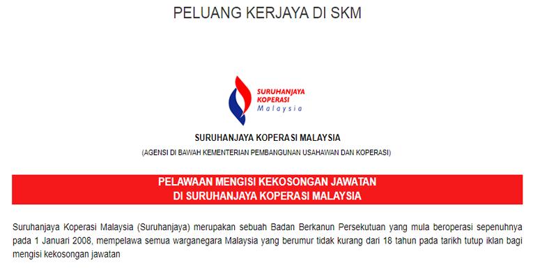 Kekosongan Terkini di Suruhanjaya Koperasi Malaysia (SKM)