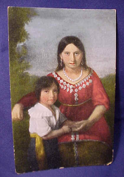 Pocahontas and son Thomas Rolfe