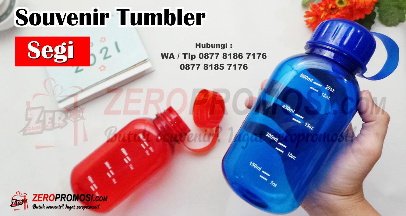 Jual Botol segi empat 600 ml plastik murah, Tumbler Segi Plastik Souvenir Promosi
