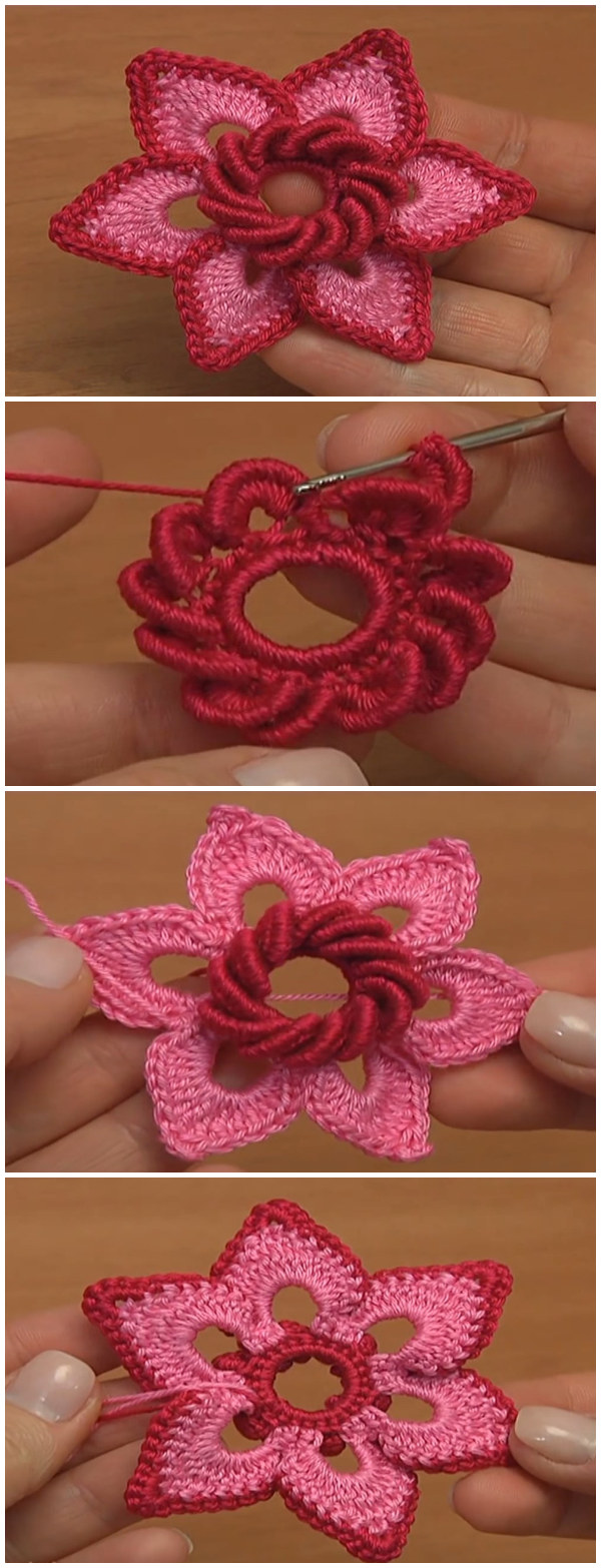 Irish Crochet Double Layered Flower
