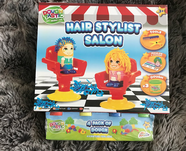 dough hairdresser set and pack of coloured dough