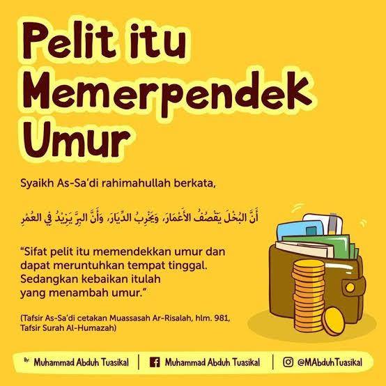 Pandangan Islam Tentang Sikap Kikir / Bakhil atau Pelit ...