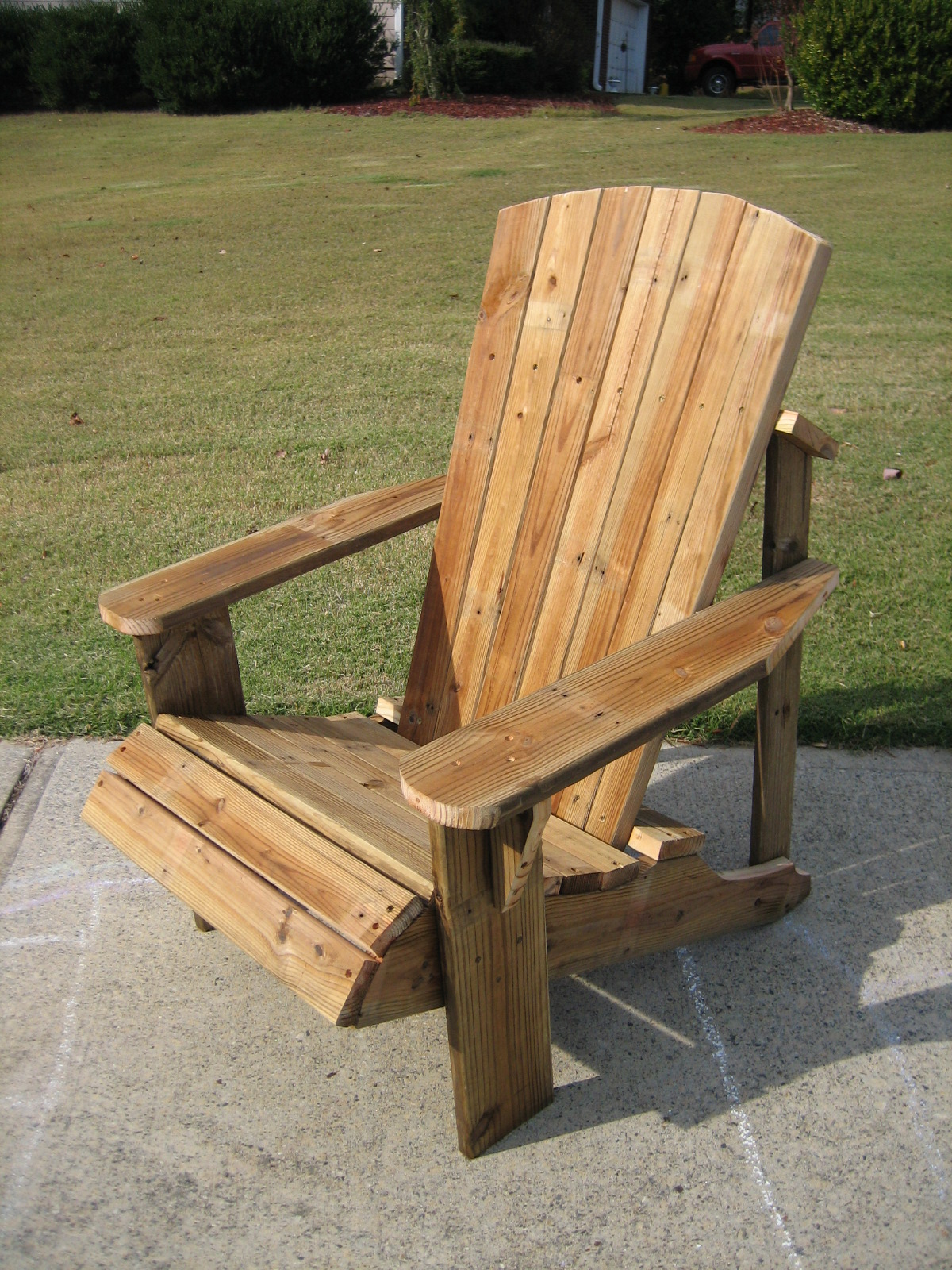 Distressed Adirondack Chairs Wing Back Recliner Chair Slipcover New Again