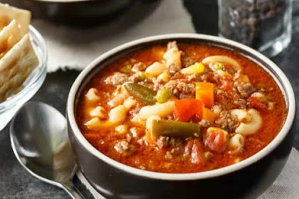 Delicious Beef And Macaroni Soup