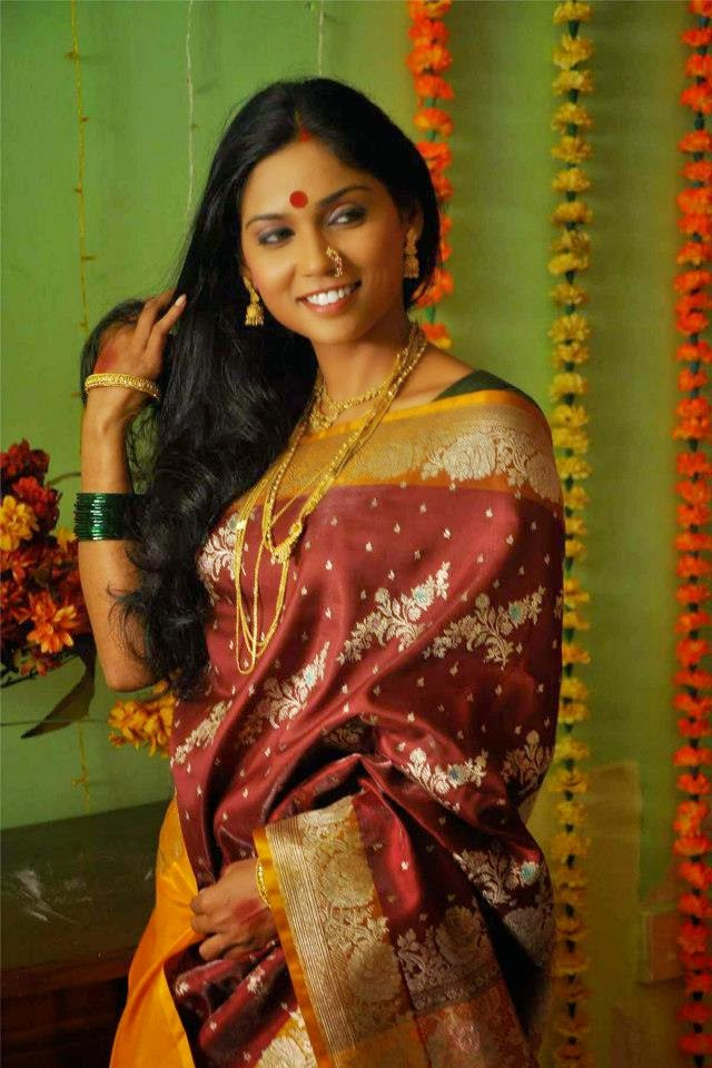 Usha Jadhav Looking Hot in Saree