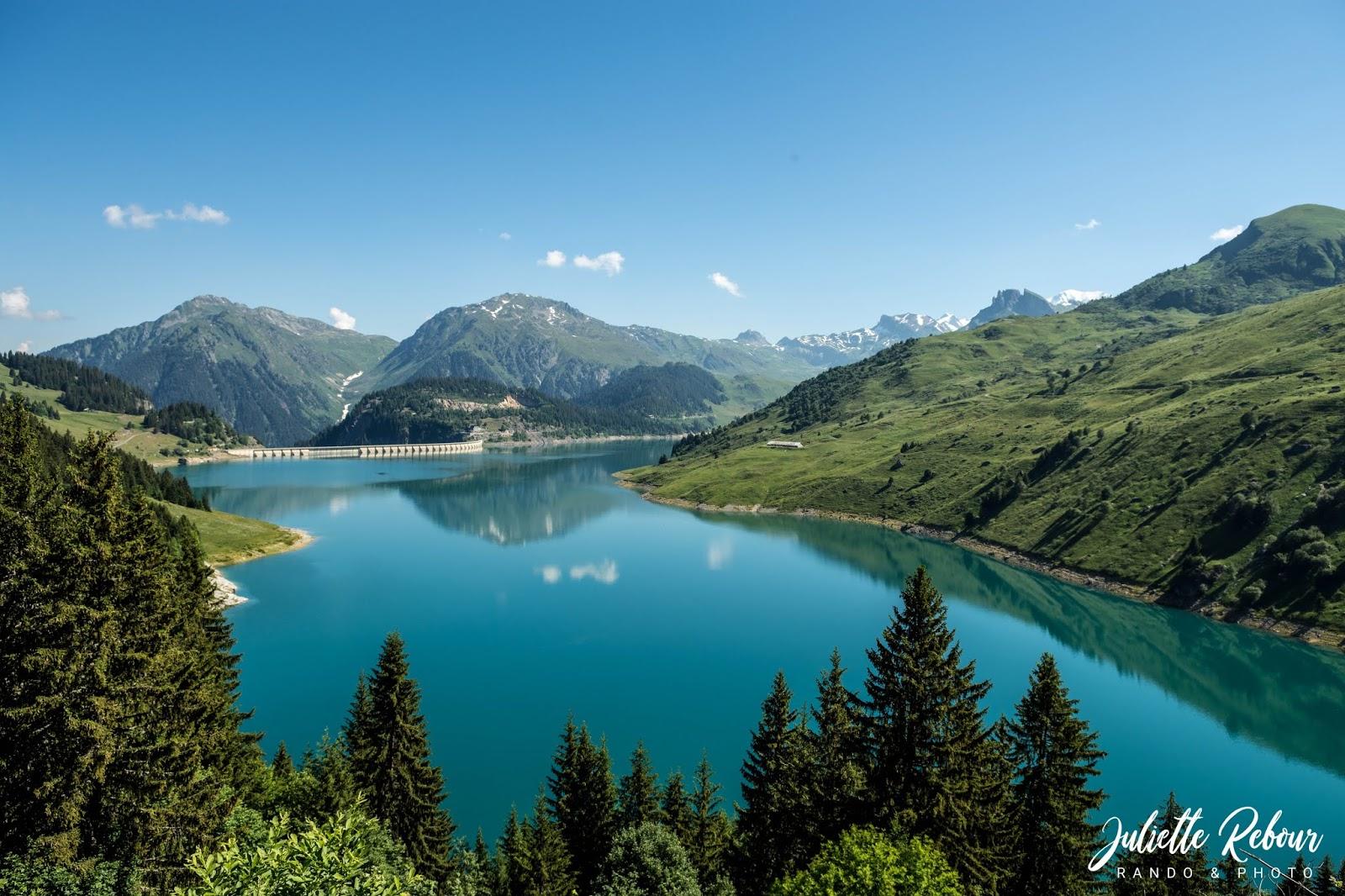 Lac de Roselend en Savoie