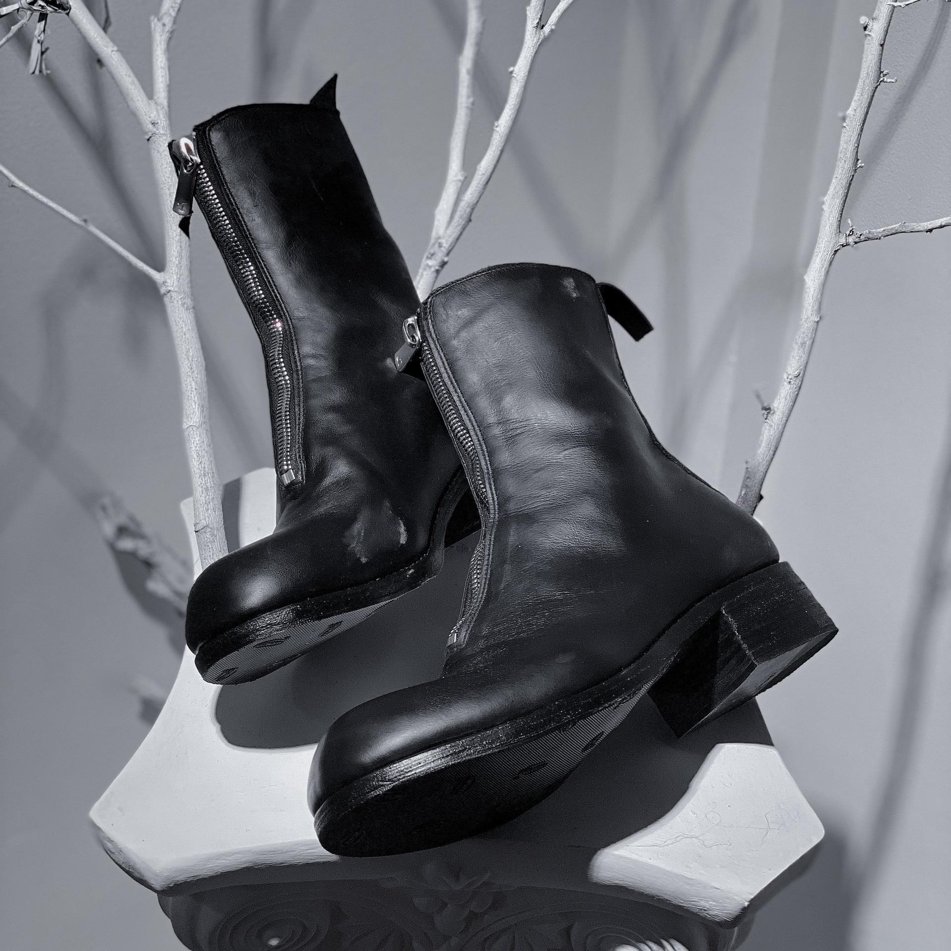 WALKER 815B - WALKER FRONT ZIP BOOTS IN BLACK