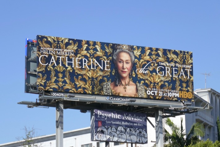 Catherine the Great series premiere billboard