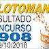 Resultado da Lotomania concurso 1908 (09/10/2018) ACUMULOU!!!