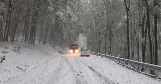 Több mint 10 centi hó esett a Kékestetőn - kép