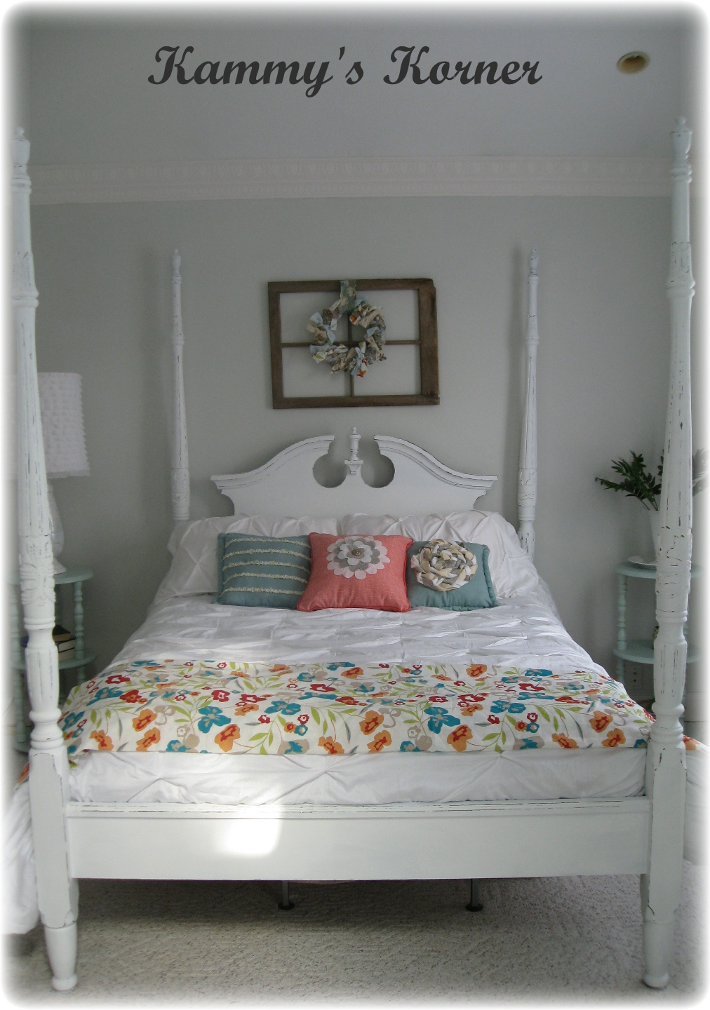Kammy's Korner: Four Poster Bed: Cherry Finish Meets