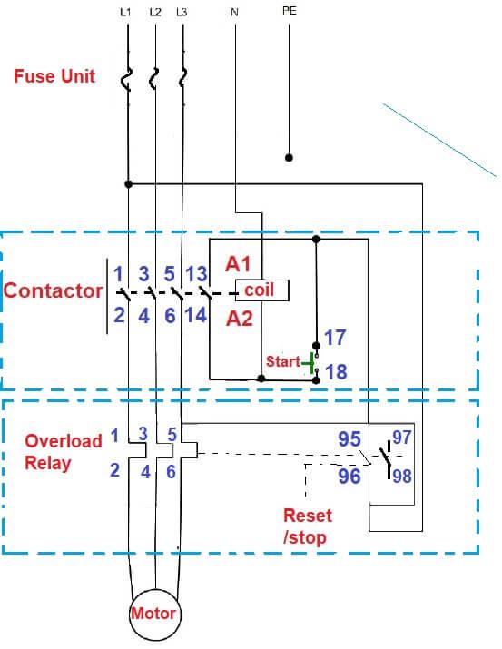 Fantastic Direct Online Starter Dol Starter Working Principle Control Wiring Wiring Digital Resources Timewpwclawcorpcom