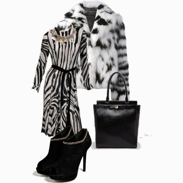 Outfit fur coat