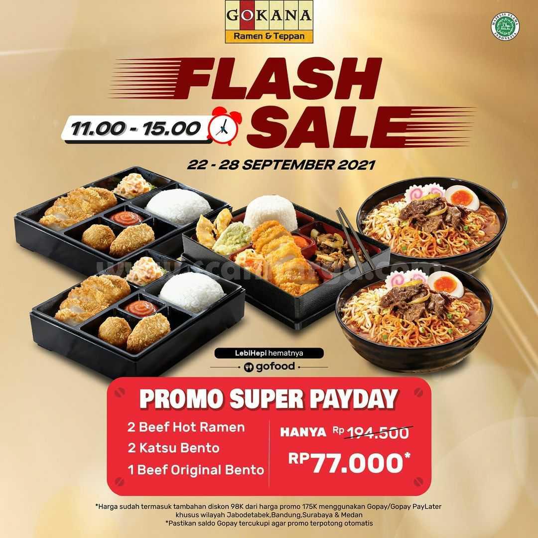 Promo Gokana s.d 28 September 2021 - Promo Super Payday Flash Sale GOFOOD