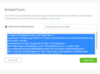 Cara membuat halaman contact us pada blog