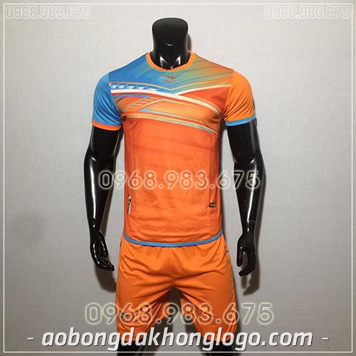 Áo bóng đá ko logo KeepFly PVĐ màu cam