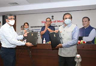 Assam Gov. signed MoU with NABARD and AIFA