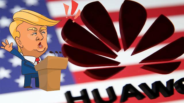 رسميا الرئيس الامريكي دونالد ترامب يرفع الحظر عن شركة هواوي الصينية .