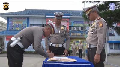 Dirlantas Polda Jambi Pimpin Penandatanganan Fakta Integritas Pada Bidang Gakkum Dan Regident