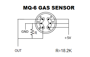 gas leakage detector with MQ-6 gas sensor.: simple....but