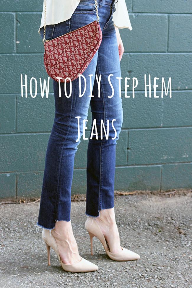How to DIY Step Hem Jeans