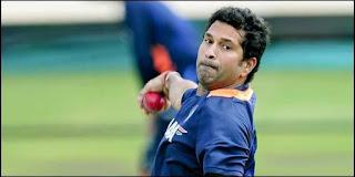 Bowling action of Sachin Tendulkar