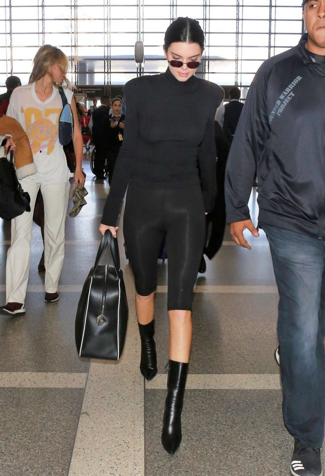 Kendall Jenner in Tight Leggings – LAX Airport in Los Angeles