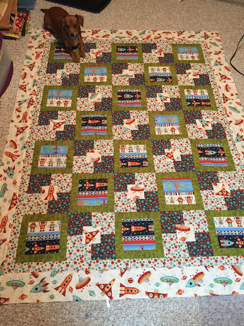space ship quilt