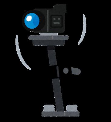 カメラのスタビライザーのイラスト