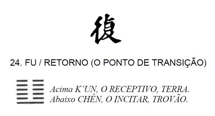 Imagem de 'Fu / Retorno (o Ponto de Transição)' - hexagrama número 24, de 64 que fazem parte do I Ching, o Livro das Mutações