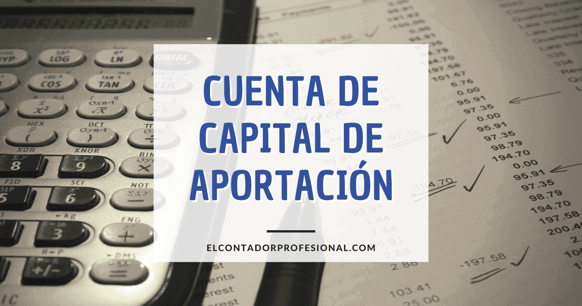 cuenta de capital de aportacion