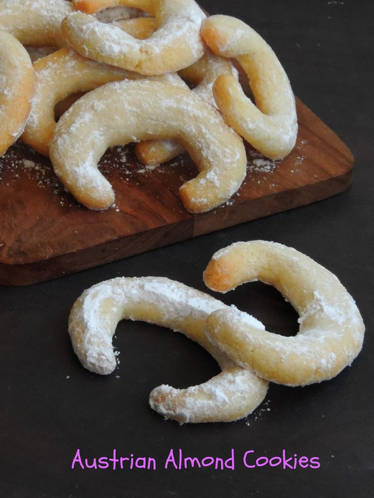 Priya S Versatile Recipes Vanillekipferl Austrian Almond Cookies