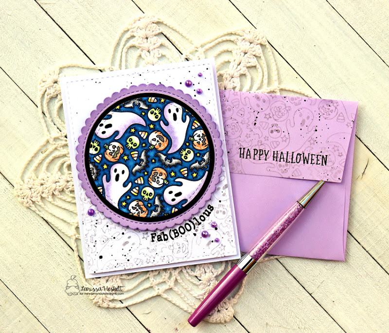 Fab(BOO)lous Card by Larissa Heskett for Newton's Nook Designs using Spooky Roundabout and Circle Frames Die #newtonsnook #newtonsnookdesigns #spookyroundabout #circleframes
