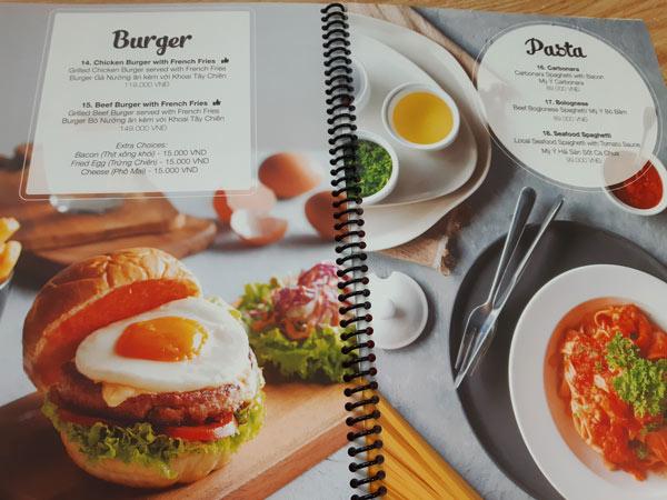 In menu thực đơn giá rẻ Nha Trang