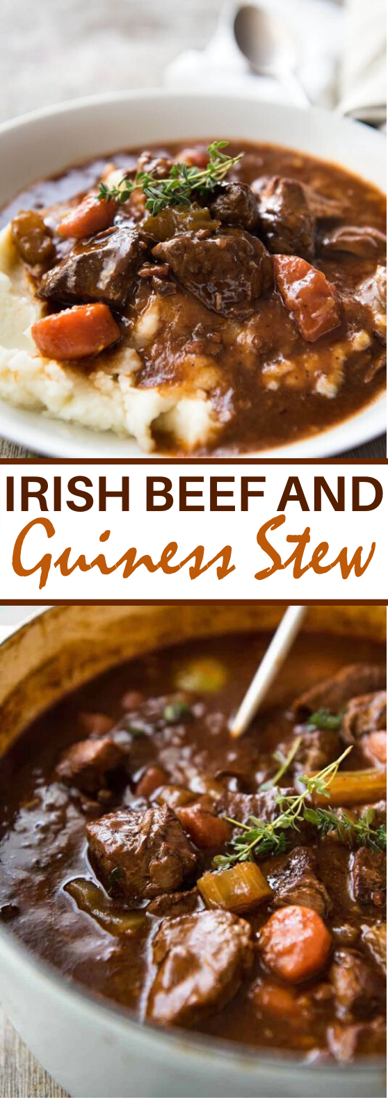 Irish Beef and Guinness Stew #dinner #beef #stew #comfortfood #soup