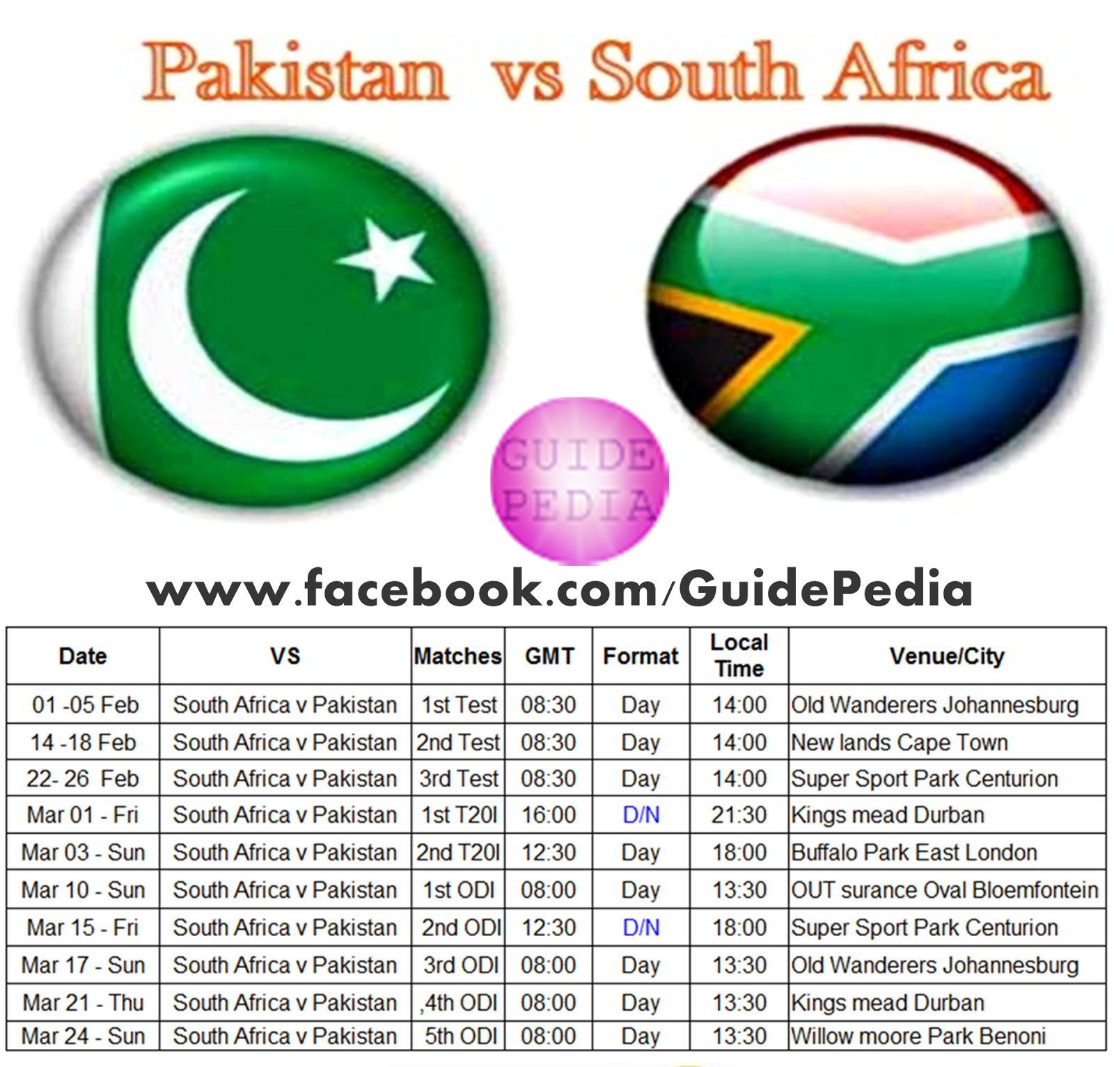 Pakistan Vs South Africa Series 2013 | GuidePedia