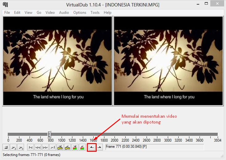 Memotong Video Dengan VirtualDub 2