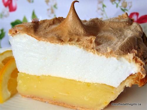 Classic Lemon Meringue Pie made with Swiss Meringue.