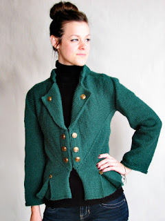Knitted Military Inspired Multi-direction Jacket