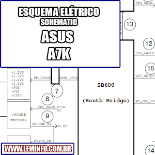 Esquema Elétrico Notebook ASUS A7K Laptop Manual de Serviço  Service Manual schematic Diagram Notebook ASUS A7 K Laptop     Esquematico Notebook ASUS A7 K Laptop