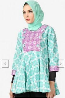 Baju Batik Wanita Muslimah Modern