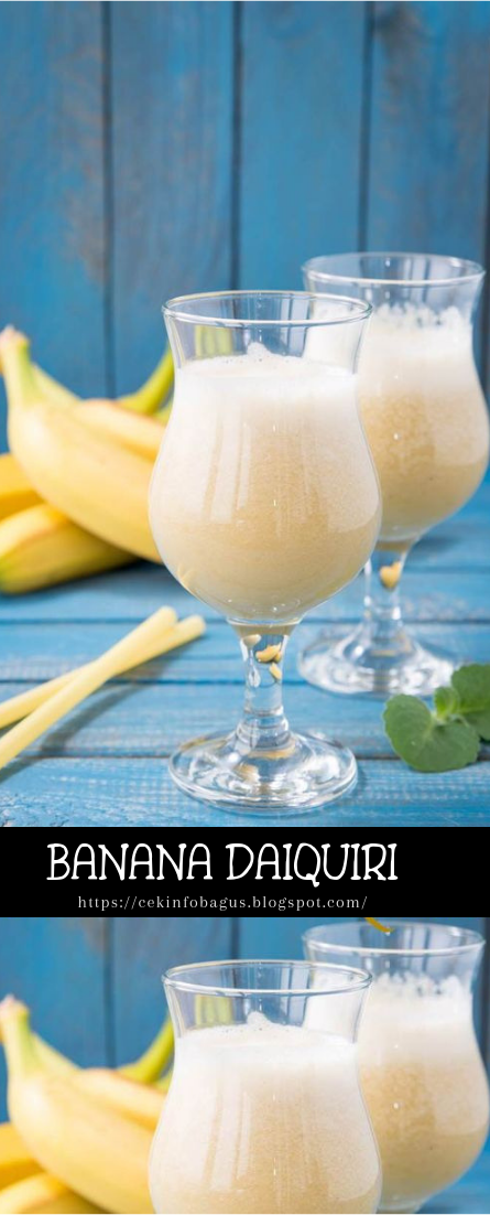 BANANA DAIQUIRI #healthydrink #easyrecipe #cocktail #smoothie