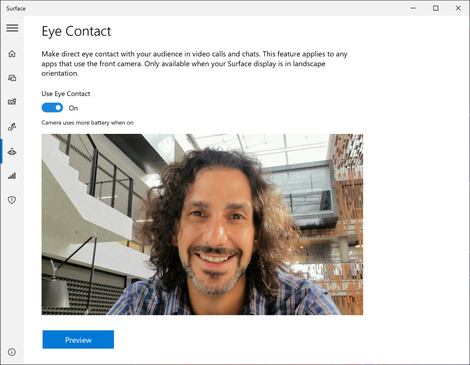 Microsoft's Eye Contact