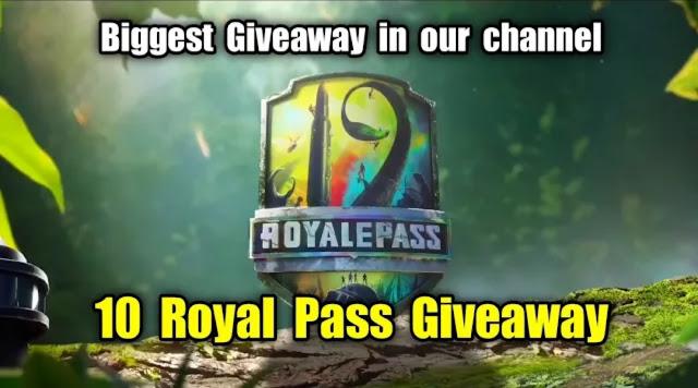 PUBG Mobile Season 19 Royal Pass Giveaway for 10 Players
