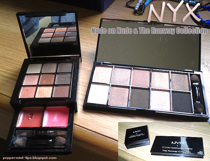 NYX Nude on Nude & The Runway Collection Palettes review and swatches