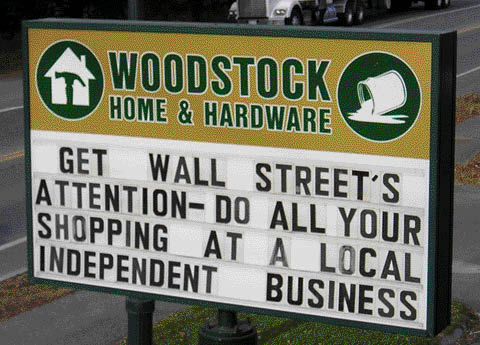 Rebuilding Place in the Urban Space: Some funny messages: Woodstock ...