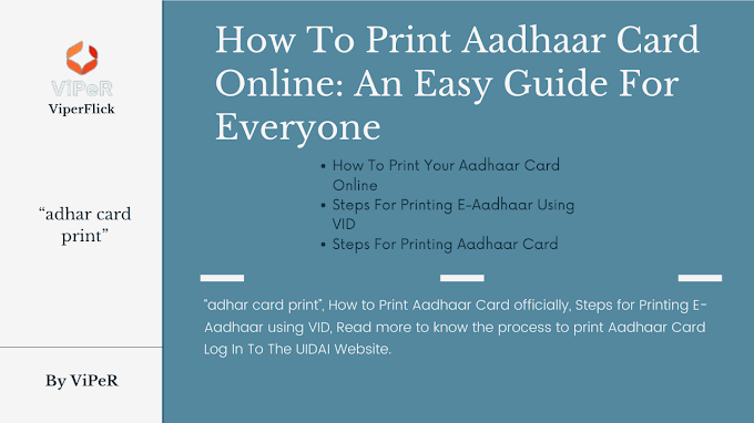 How To Print Aadhaar Card Online: An Easy Guide For Everyone