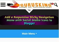 Add a Responsive Sticky Navigation Menu with Social Media Icons to Blogger
