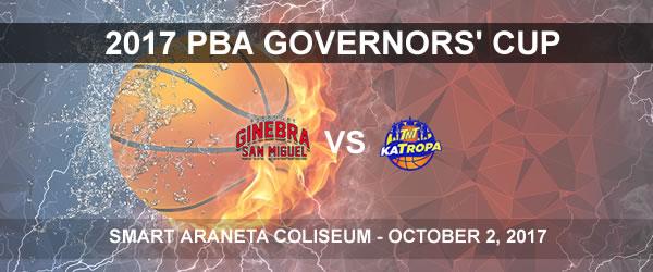 List of PBA Game(s) Monday October 2, 2017 @ Smart Araneta Coliseum