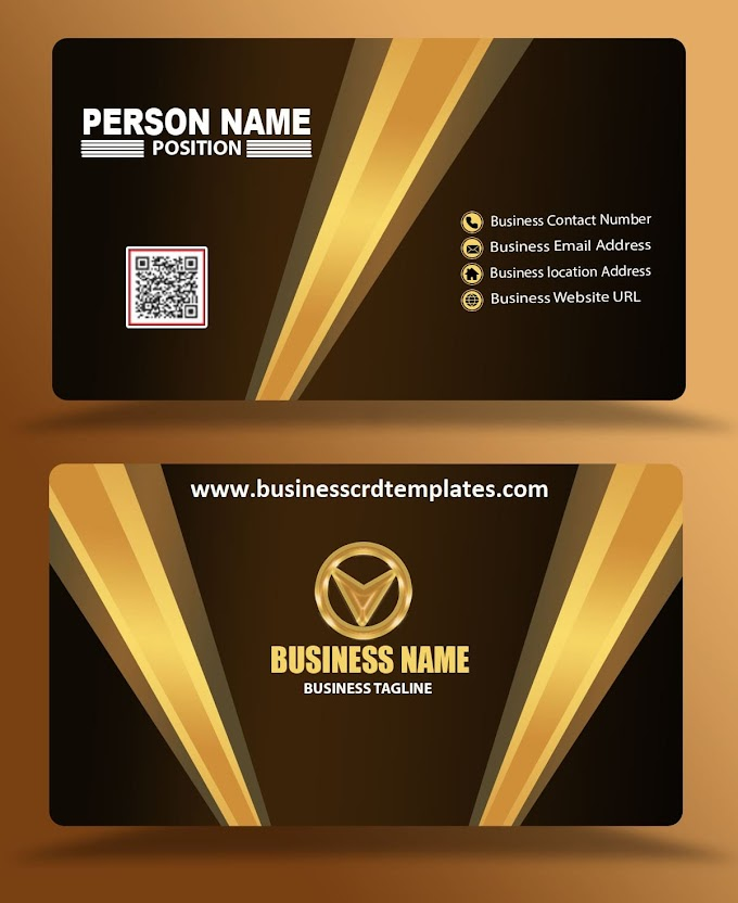 dark brown business card template eps psd free download